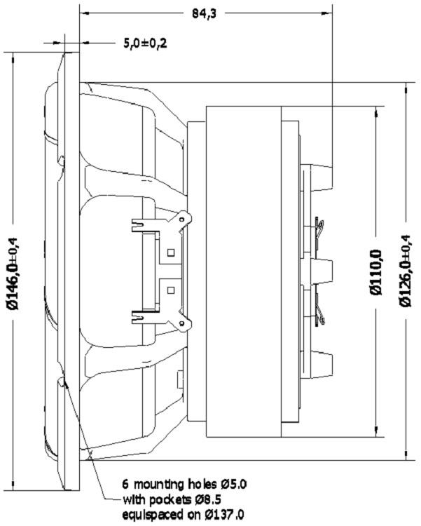 D Seas Excel loudspeaker coaxial E0080 04 06 C16NX001 F