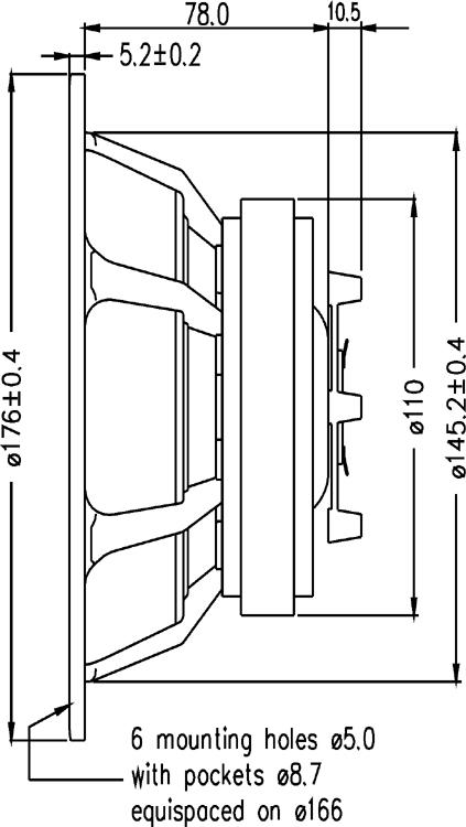 D Seas Prestige loudspeaker coaxial  H1699 MR18REX XF