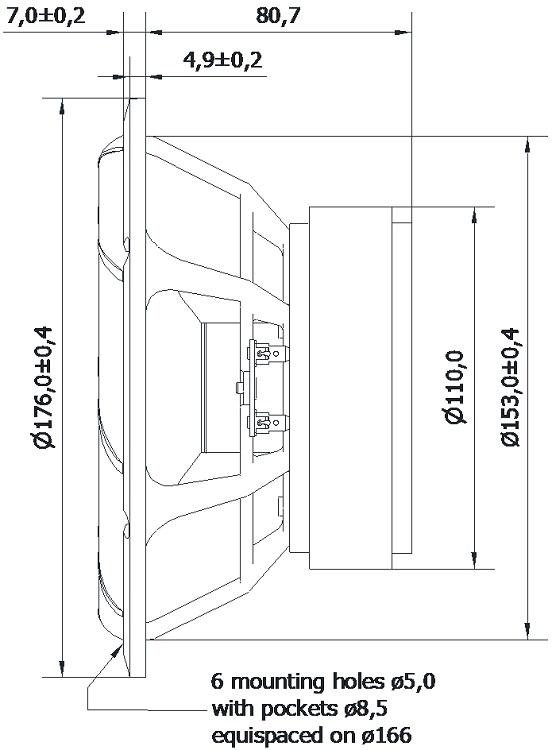 D Seas Prestige loudspeaker woofer H1878 08 L19RNX1